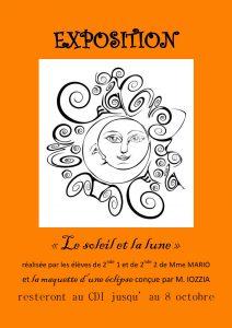 Exposition éclipse - affiche
